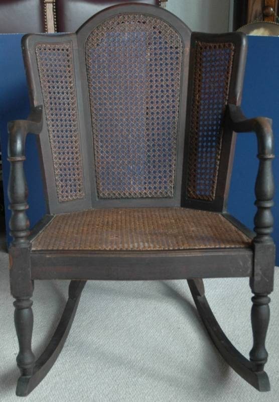 Very Rare Wingback Cane Rocking Chair Heywood Wakefield