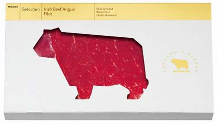 While I'm on the topic of custom packaging, here's some really clever package design for a steak. It's probably the coolest thing in meat packaging since p