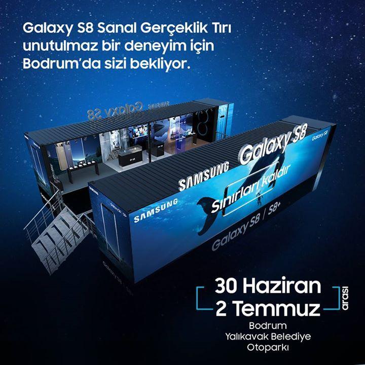 Galaxy S8 Sanal Gerçeklik Tırı, unutulmaz bir deneyim için 30 Haziran - 2 Temmuz tarihleri arasında Bodrum Yalıkavak'ta sizleri bekliyor!