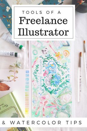 My tips on how to create beautiful editorial illustrations for clients! The tools and art materials I use as a freelance illustrator to draw and paint... my favorite papers and watercolors!