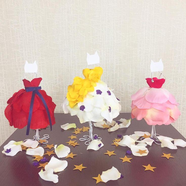 100円材料で手作り出来る♡カラードレス色当てクイズに「ミニトルソー」を使うのが可愛すぎ♩ | marry[マリー]