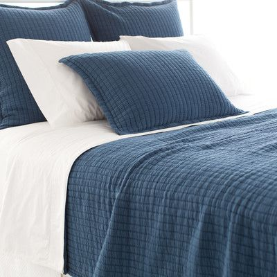 in Aegean Pine Cone Hill Boyfriend Matelasse Coverlet & Reviews | Wayfair