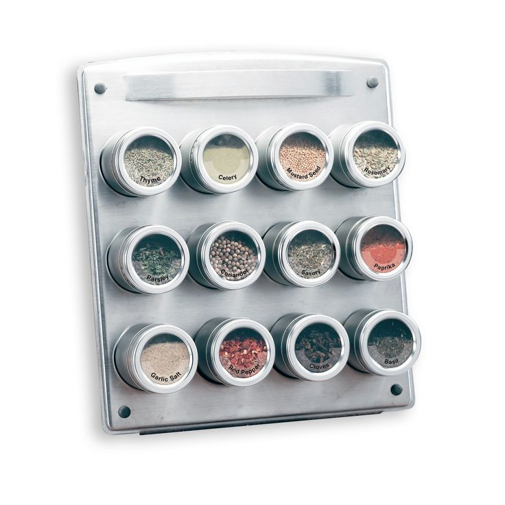 Kamenstein Magnetic Spice Rack With Free Spice Refills For