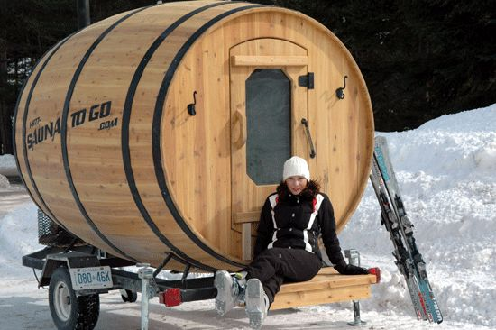 Barrel Sauna Tiny Abode
