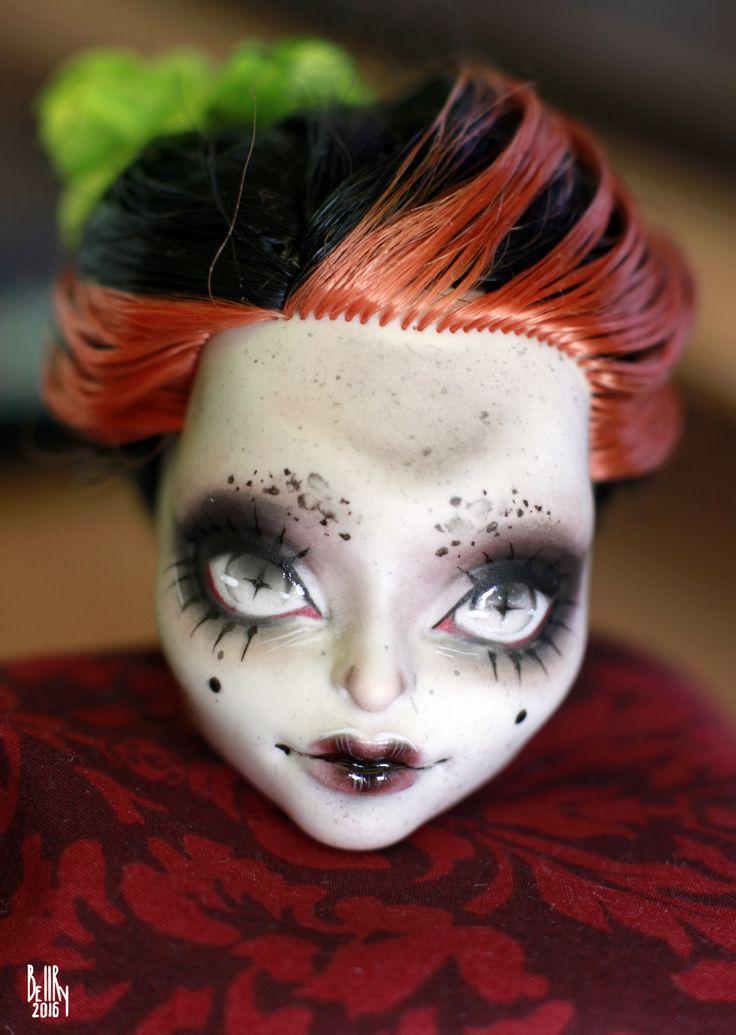 https://flic.kr/p/GrKVRM | Monster High OOAK Skelita Stripe repaint custom doll…