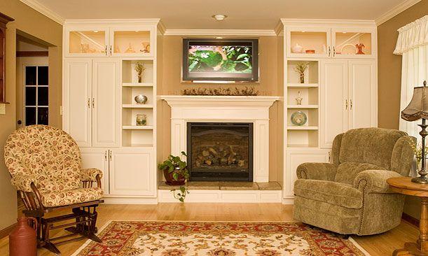 17 Best Ideas About Shelves Around Fireplace On Pinterest