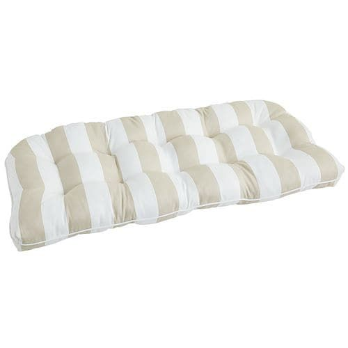 Standard Contour Settee Cushion in Dover Bisque   Pier 1 Imports