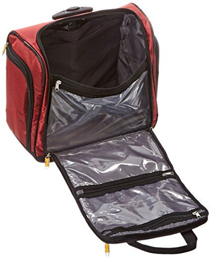 "Amazon.com | LUCAS Wheeled Underseat Cabin Bag 16"" - eBags EXCLUSIVE (Red) 