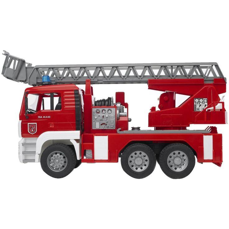 Masina de pompieri MAN Bruder cu scara si pompa de apa 2771