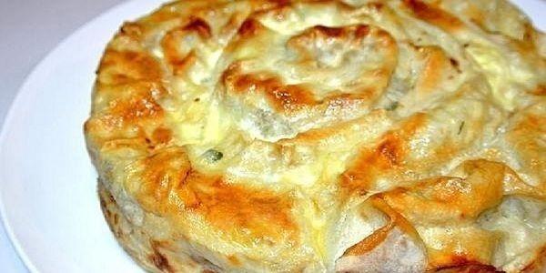 Прекрасный рецепт пирога из лаваша с фаршем