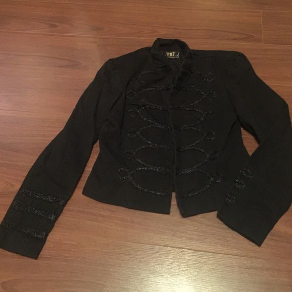 FINAL PRICE   Zara Black Military Jacket ZARA TRF Black Military Structured Jacket w/ Padded Shoulders. Size Small. Very good condition. Price is firm. Zara Jackets & Coats