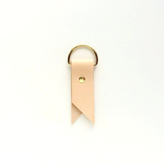 Brass & Leather Key Chain