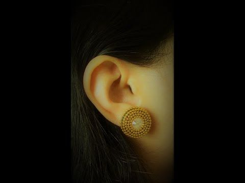 How to Make Quilling Stud Earrings/Design 18/Tutorial - YouTube