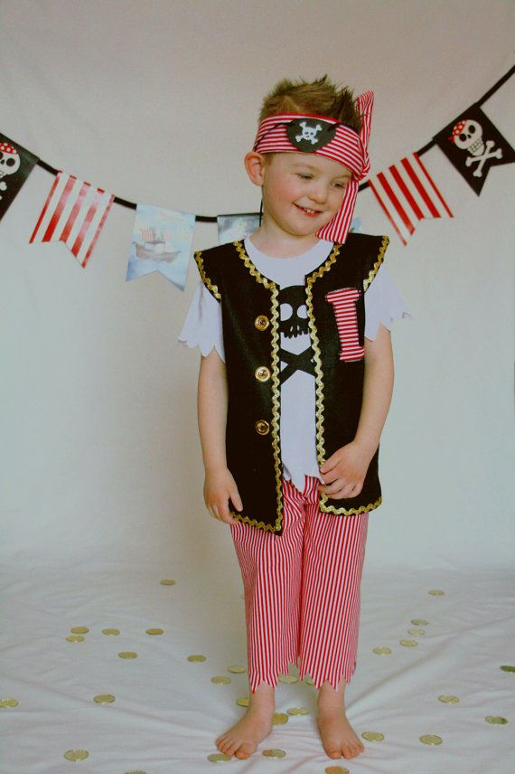 Pirate Costume Boy Pirate Captain Hook by willowlaneboutiques