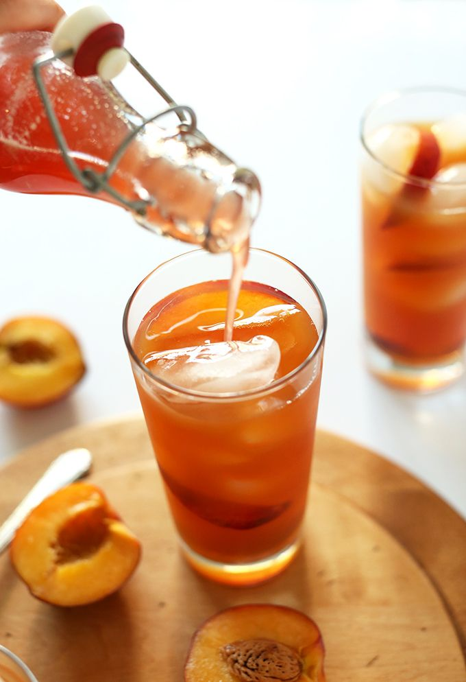 Simple Peach Iced Tea | Minimalist Baker Recipes