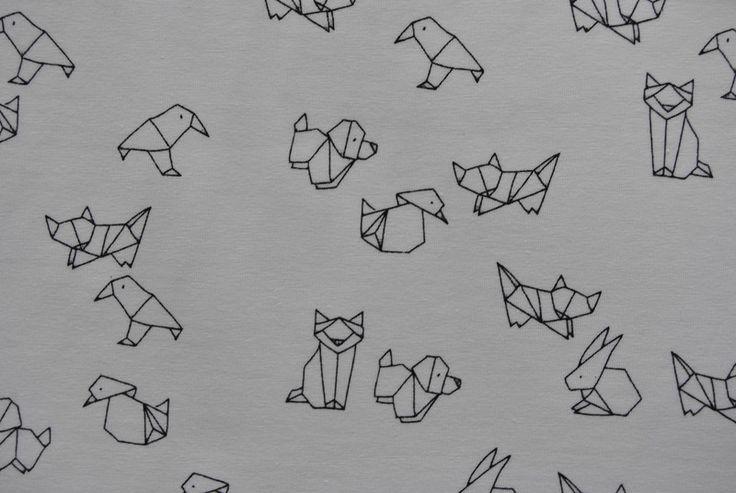 Kinderstoffe - Jersey Origami Tiere - ein Designerstück von guterstoffberlin bei DaWanda