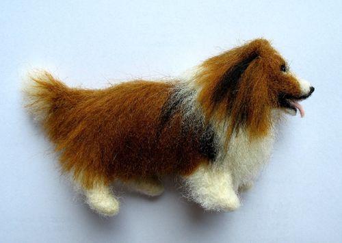 Animales lana cardada,needle felting