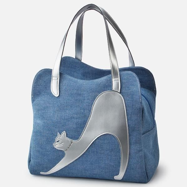 аппликация кошка, сумка с кошкой, кошка