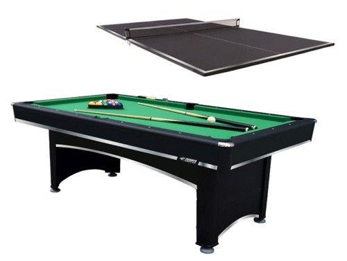 Triumph Sports 7 ft. Billiard Table with Bonus Table Tennis Top