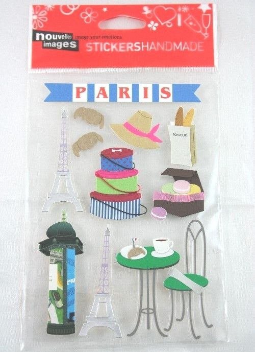 Stickers Handmade Paris, in carta e cartoncino. Per decorare, scrapbooking, personalizzare biglietti e inviti e ricordi di viaggio. Parigi. By C&C Creations Store