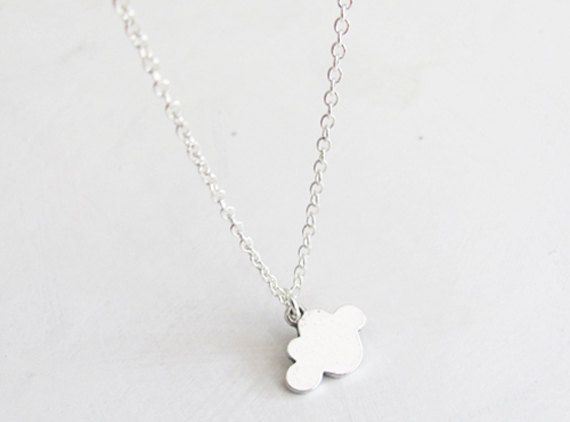 Cloud Necklace  Sterling Silver Chain  Cloud Charm by teilla, $18.00