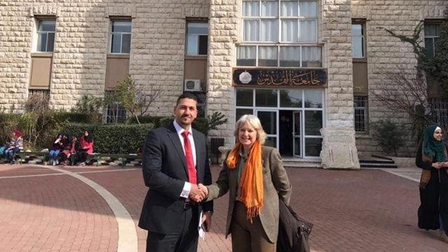 Relazioni internazionali: il Dipartimento di Giurisprudenza dell'Università di Sassari in Palestina