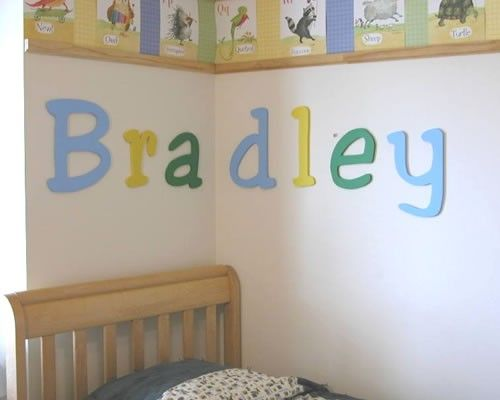 Painted Letters For Baby Room