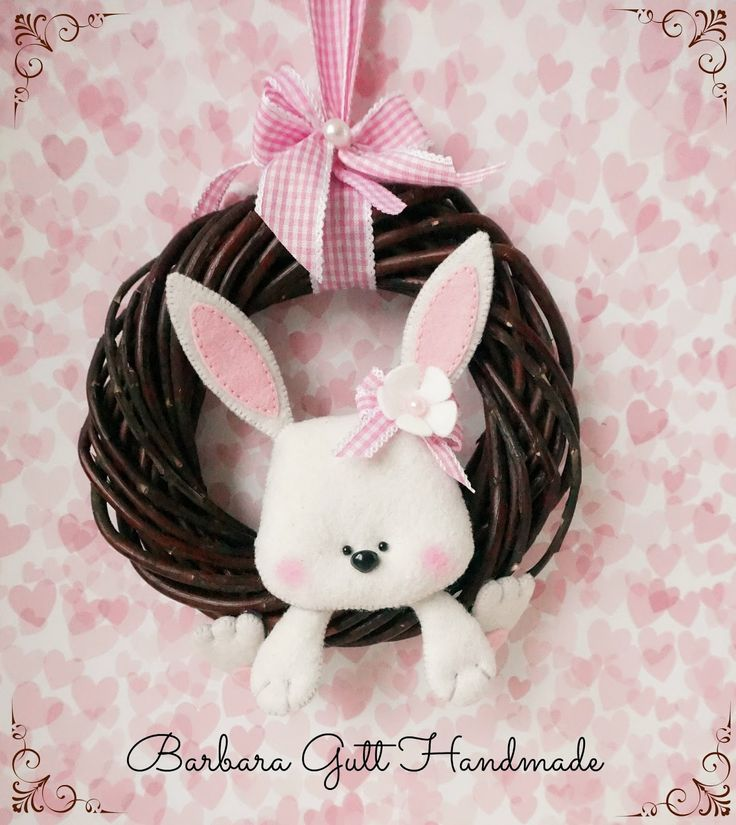 Barbara Handmade...: Wianek z królisiem / Easter wreath with buuny