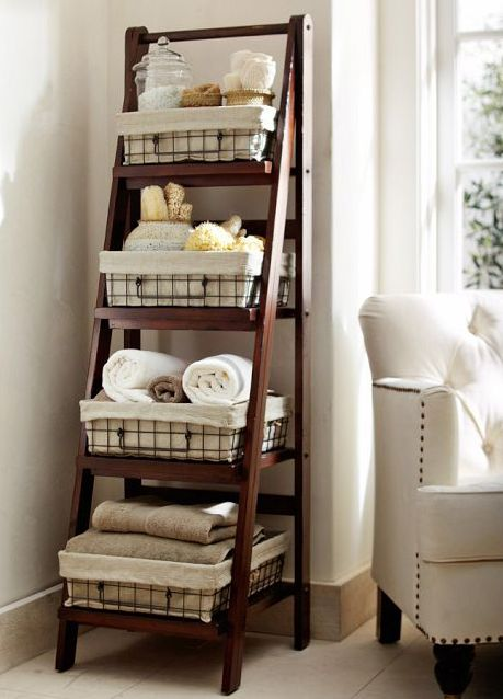 towel organizer for bathroom | ... Life: Baskets and Bins Make Storage Easy | Pfister Kitchen & Bath Blog