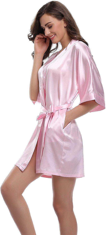 3b1ec0dc5b Sunnyhu Women s Pure Color Kimono Robe