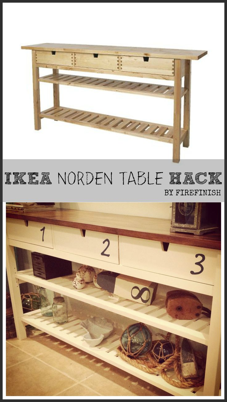 Ikea hack....norden table hack stained top and numbers added. Looks 100 times better! #furniture #hacks #ikeahack
