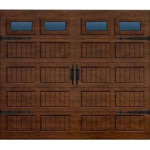 Martin Garage Doors, Wood Collection Silverlake 8 x 7 ft. Grooved Panel Walnut Woodgrain Non-Insulated Full View Acrylic Window Garage Door, HDIY-000161 at The Home Depot - Tablet