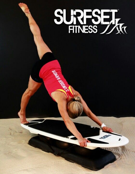 Exhale into a one leg pike...love SURFSET FITNESS!!
