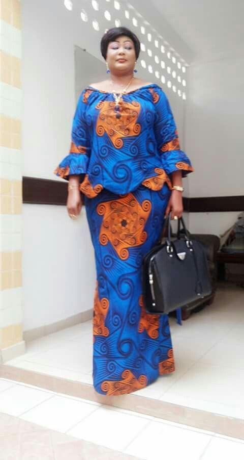 62530c0f049 Big and beautiful women ankara skirt and blouse styles  plussize   plussizefashion  ankara  ankarastyles  asoebi  asoebibella