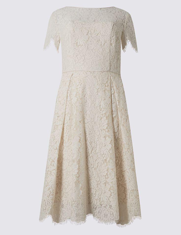 Short Sleeved Lace Skater Dress | Marks & Spencer London