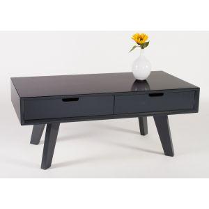 Palermo svartlackerat soffbord med lådor
