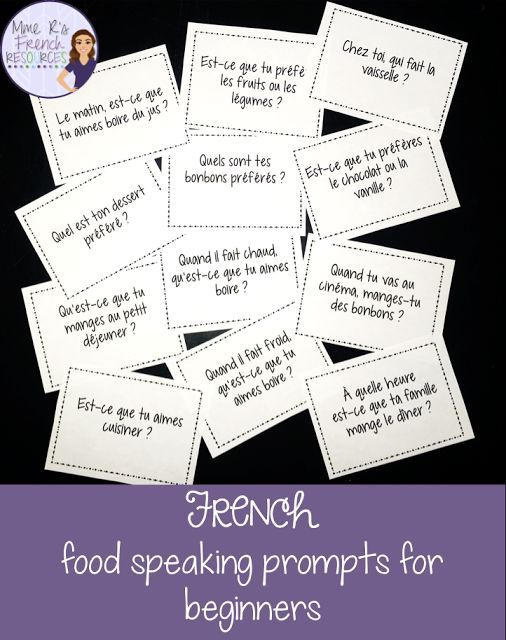 How to get your French students speaking-FREE French speaking activity for beginners! Click here to learn how to get your students speaking more French and pick up this FREE speaking activity!