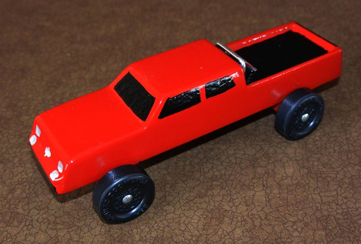 Big red Chevy truck - Pinewood Derby
