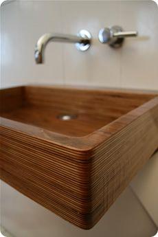 Wood Pedestal Sink : ... wood wooden bathroom ideas sink beautiful laminated wooden pedestal