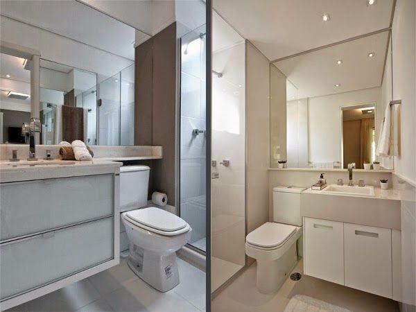 Banheiro pequeno decora o decor estilo moderno clean for Apartamentos pequenos modernos