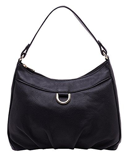 d2977cedc3 HESHE Women Leather Handbags Top Handle Bags Shoulder Bag Satchel and Purse  with Long Strap