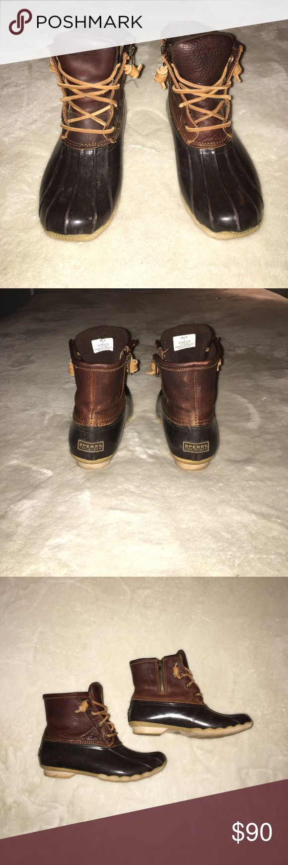 Sperry Top-Sider Boots Brown Sperry Top-Sider Brown Boots! Good condition! Super comfortable and super warm for the cold, wet fall/winter days!! Sperry Top-Sider Shoes Winter & Rain Boots