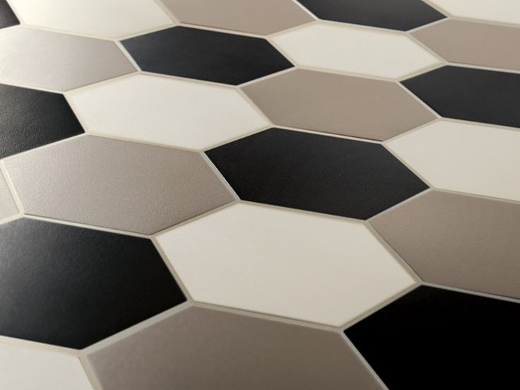 Indoor/outdoor full-body porcelain stoneware flooring HEX - HEXAGON by ETRURIA design