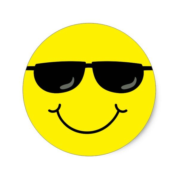Cool Emoji Face With Sunglasses Classic Round Sticker Zazzle Com In 2020 Emoji Faces Cool Emoji Emoji Images