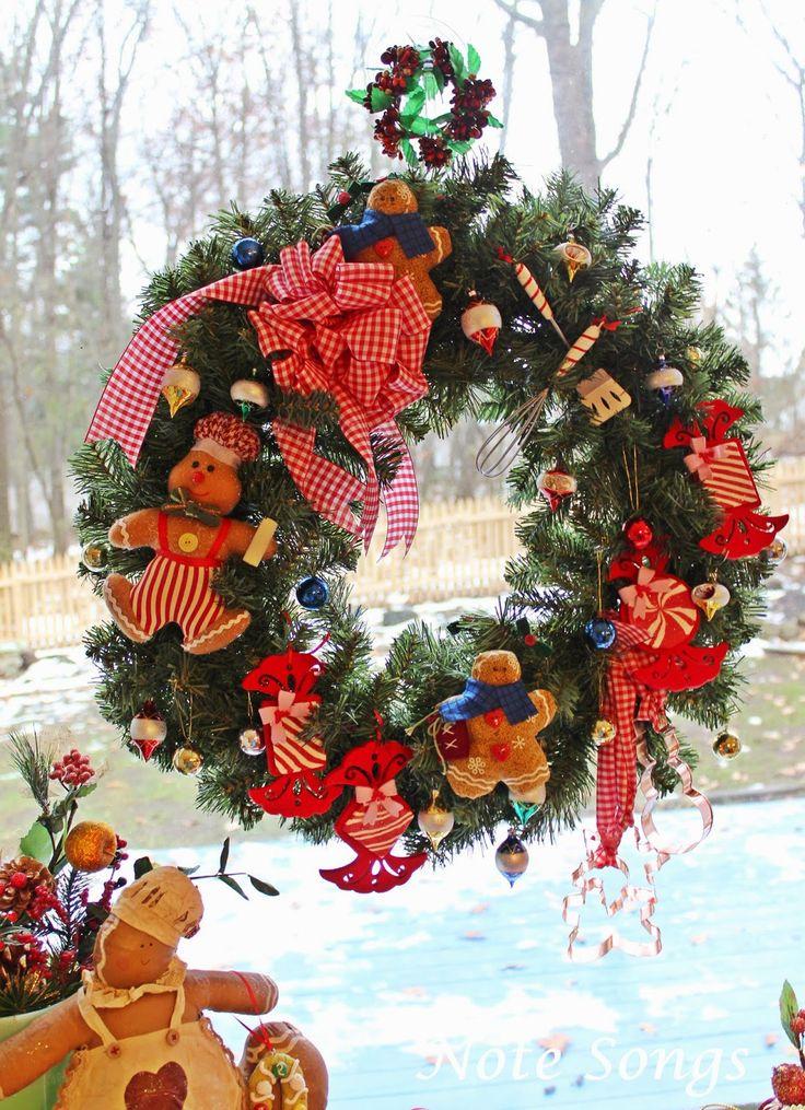 Kitchen Window Wreath - baking theme