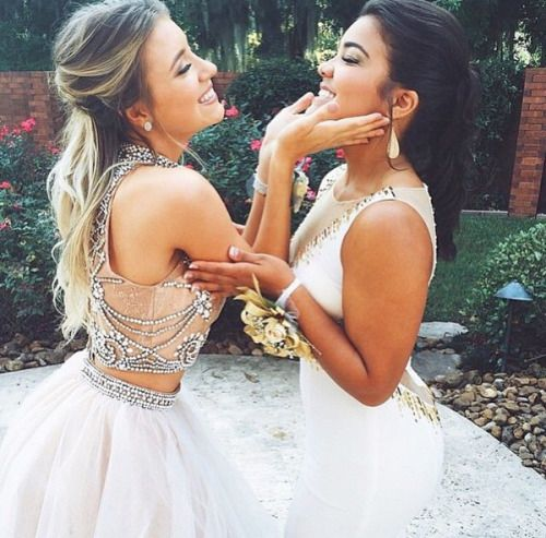 My bestfriend means everything to me and this would be the perfect pose to do on prom to express our friendship and the beautiful dresses tops will be the eye candy