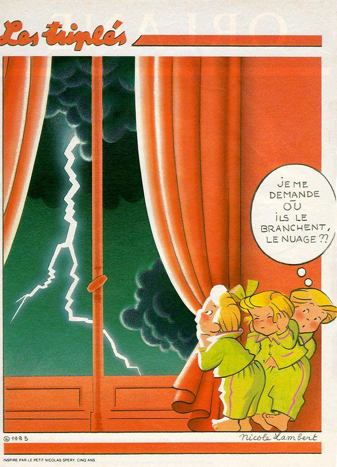 Les triplés et l'orage
