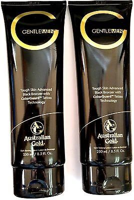 nice Lot of 2 Australian Gold G Gentlemen Black Bronzer Tanning Bed Lotion for Men - For Sale Check more at http://shipperscentral.com/wp/product/lot-of-2-australian-gold-g-gentlemen-black-bronzer-tanning-bed-lotion-for-men-for-sale/