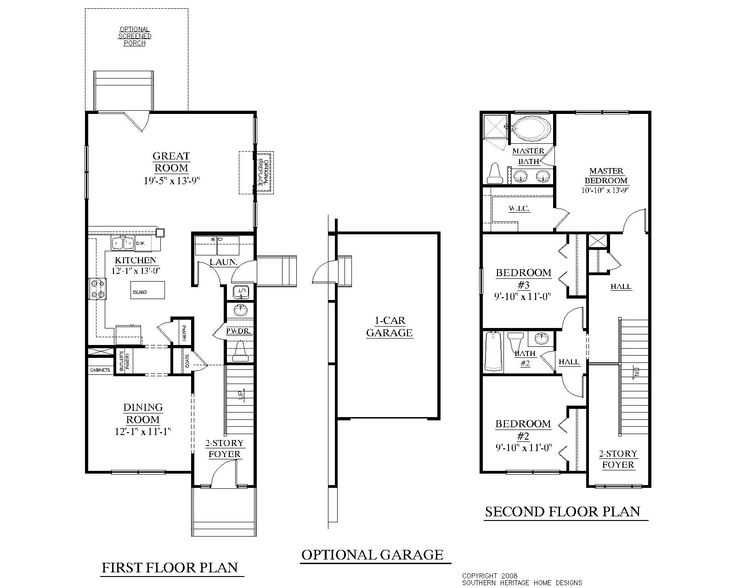 Best 164 two story house plans images on pinterest for One story beach house plans