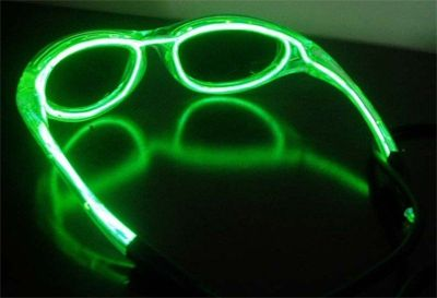 EL Wire Sunglasses Electroluminescent Light Glow Glasses Green
